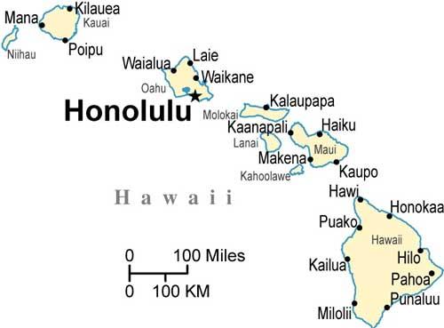 hawaii rest area map